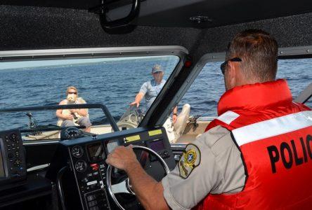 La Sûreté du Québec maximise sa présence sur le lac Saint-Jean