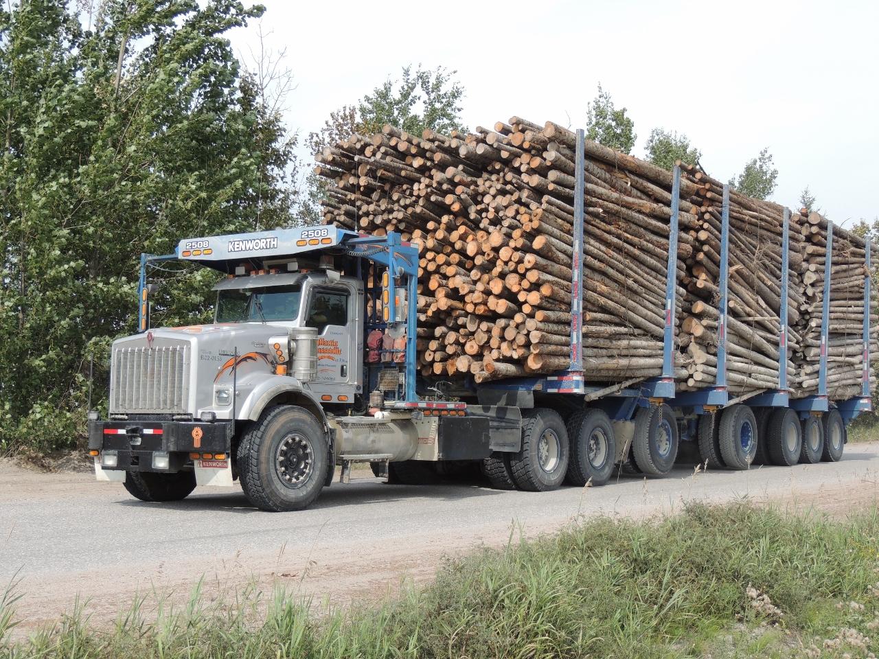 Des Innus barrent un chemin forestier à Girardville