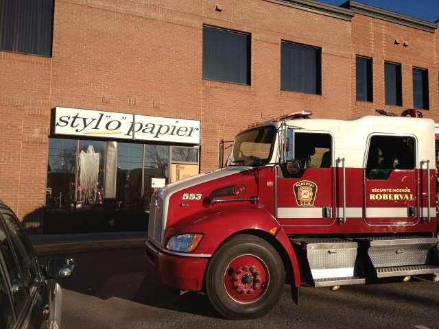 Début d'incendie à la Plaza Roberval