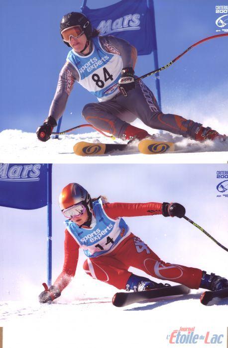 Les skieurs locaux dévalent les pentes
