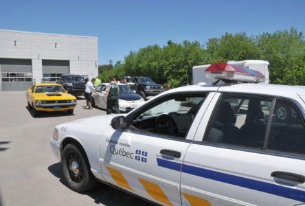 Une opération de vérification des véhicules routiers en cours à Roberval