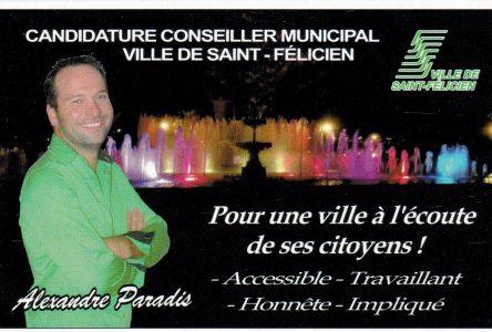 SAINT-FÉLICIEN, CONSEILLER 6 : Alexandre Paradis