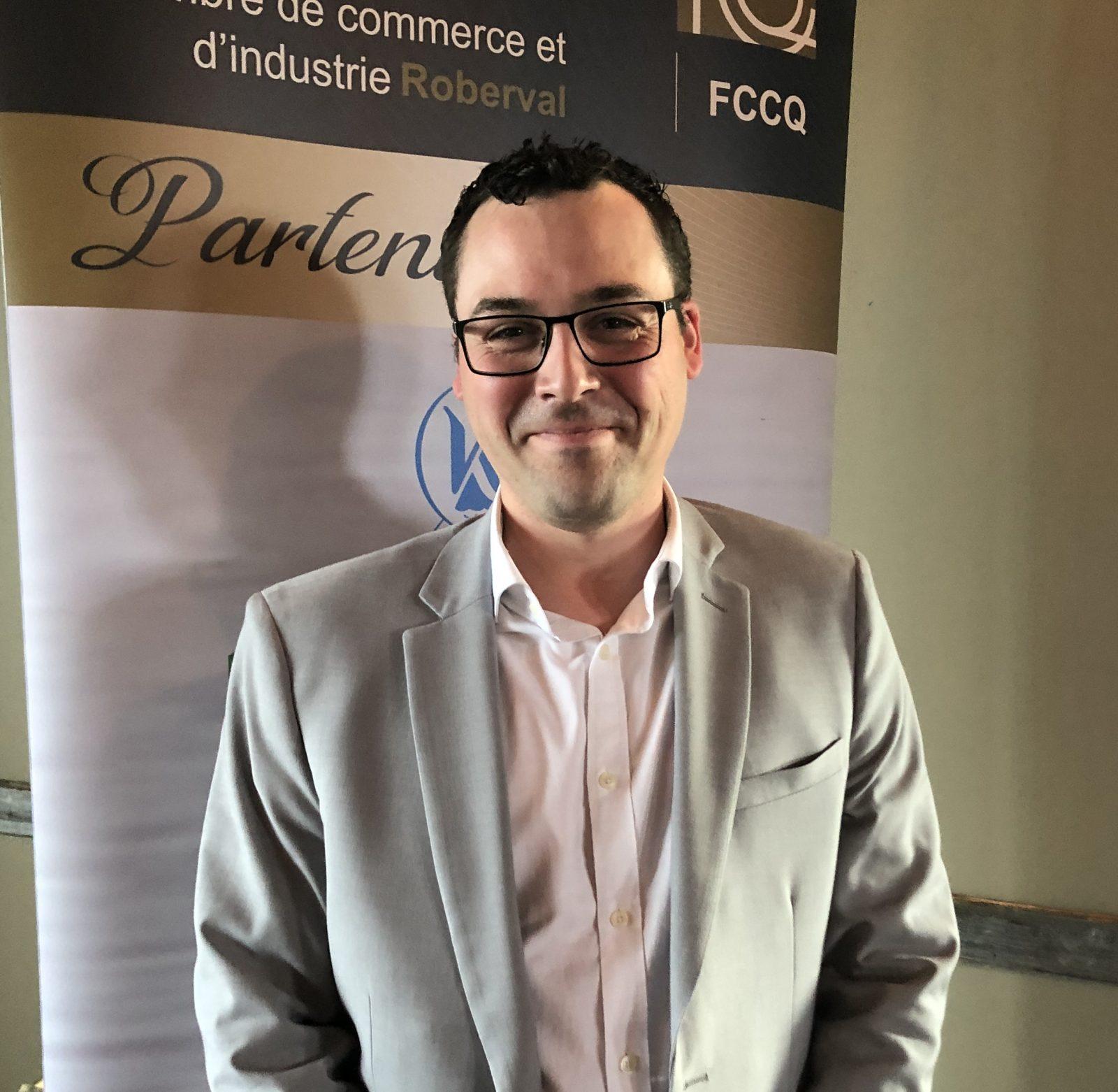 Olivier Leroux à la présidence de la Chambre de commerce et d'industrie de Roberval
