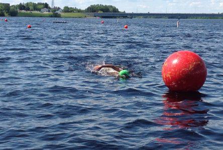 Saint-Félicien dispose d'un site idéal pour la nage en eau libre