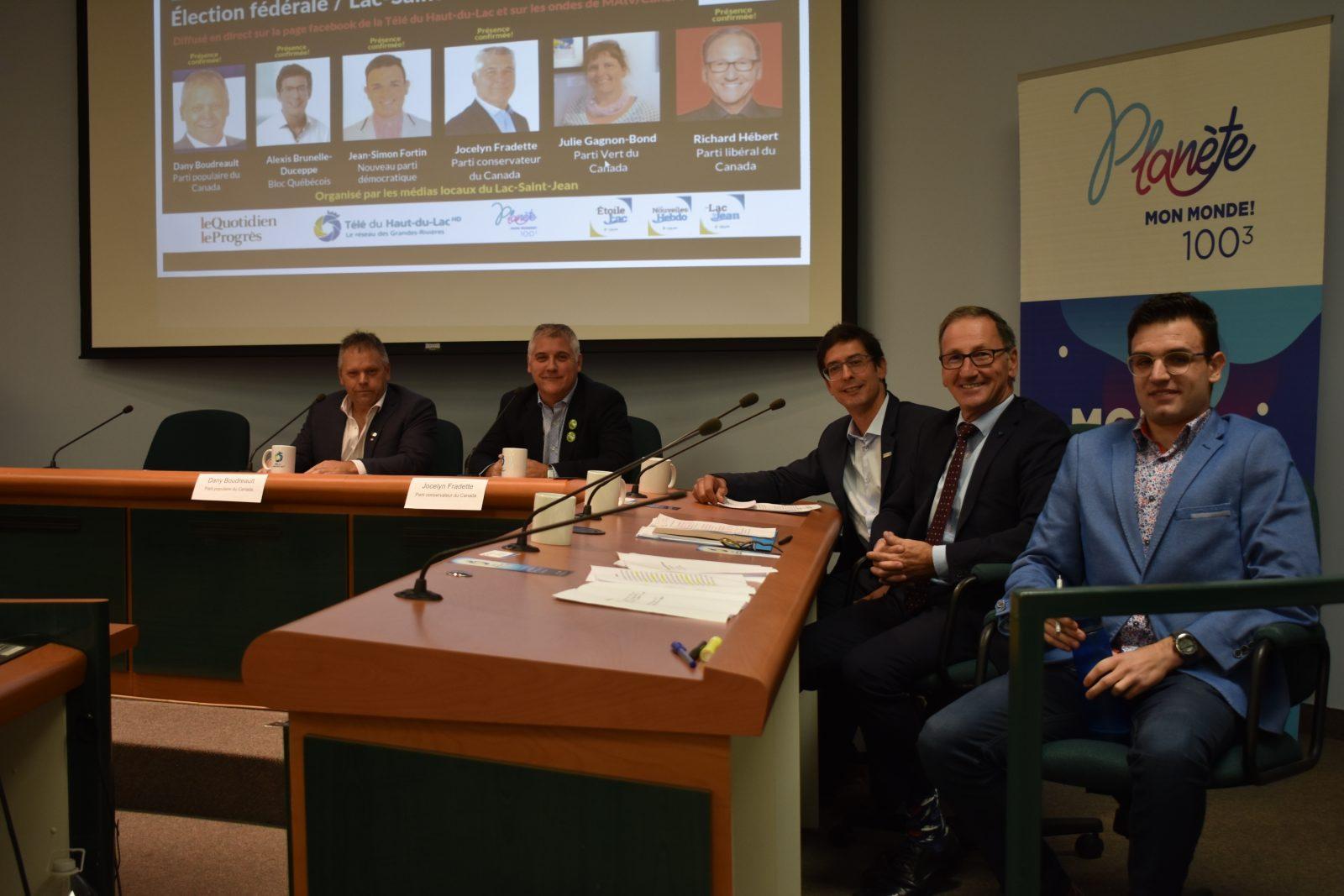 Élection fédérale : les candidats dans Lac-Saint-Jean débattent