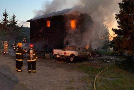 Maison détruite à Chambord