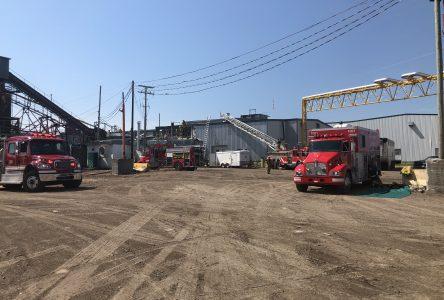 Incendie à la scierie de St-Félicien