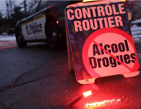 Opération contre les facultés affaiblies : présence policière accrue du 27 novembre au 4 janvier