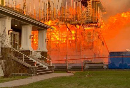 Incendie au palais de justice de Roberval