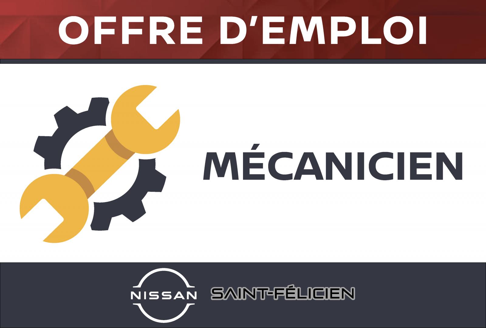 Saint-Félicien Nissan : OFFRE D'EMPLOI – Mécanicien