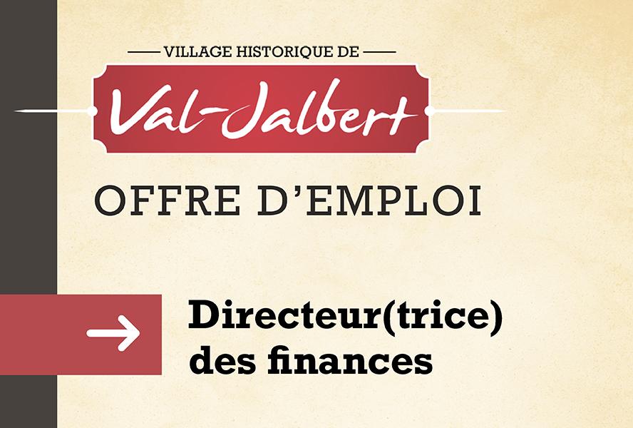 Le Village historique de Val-Jalbert est à la recherche d'un(e) directeur(trice) des finances
